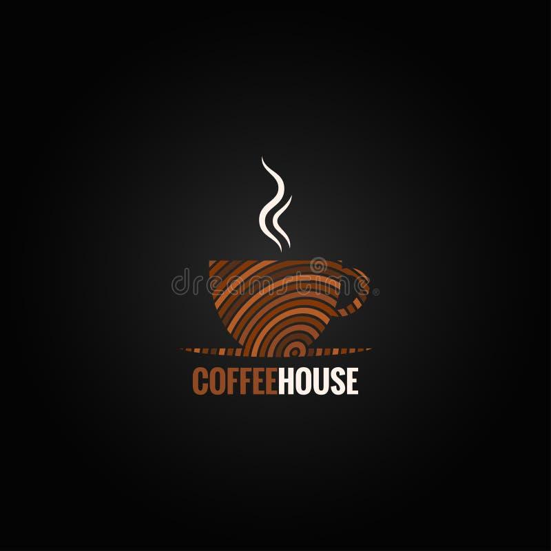 Υπόβαθρο σχεδίου τέχνης φλυτζανιών καφέ διανυσματική απεικόνιση