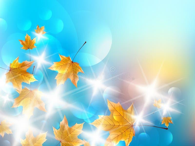 Υπόβαθρο σχεδίου φθινοπώρου. απεικόνιση αποθεμάτων
