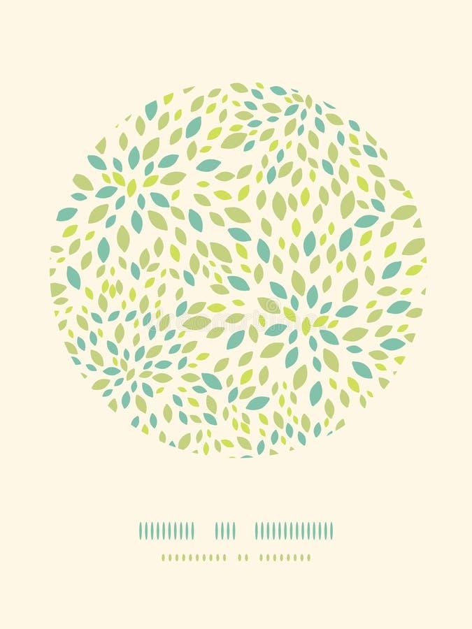 Υπόβαθρο σχεδίων ντεκόρ κύκλων σύστασης φύλλων διανυσματική απεικόνιση