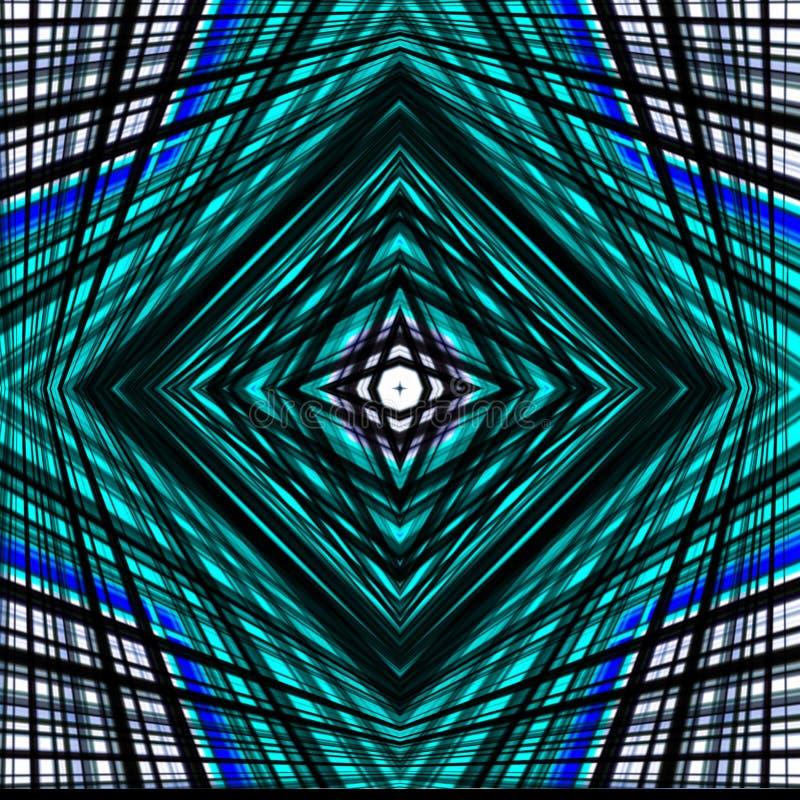 Υπόβαθρο σύγχυσης Γραμμές και τετράγωνα μπλε και μαύρος ελεύθερη απεικόνιση δικαιώματος
