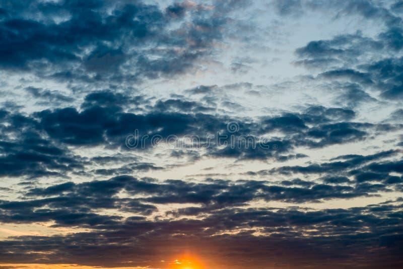 Υπόβαθρο σύννεφων ηλιοβασιλέματος στοκ φωτογραφία