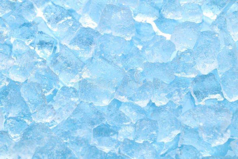 Υπόβαθρο σύστασης κύβων χειμερινού μπλε πάγου στοκ εικόνες με δικαίωμα ελεύθερης χρήσης