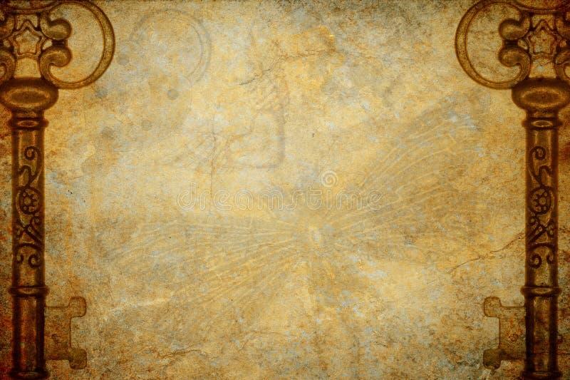 Υπόβαθρο σύστασης κλειδιών Steampunk στοκ φωτογραφία με δικαίωμα ελεύθερης χρήσης