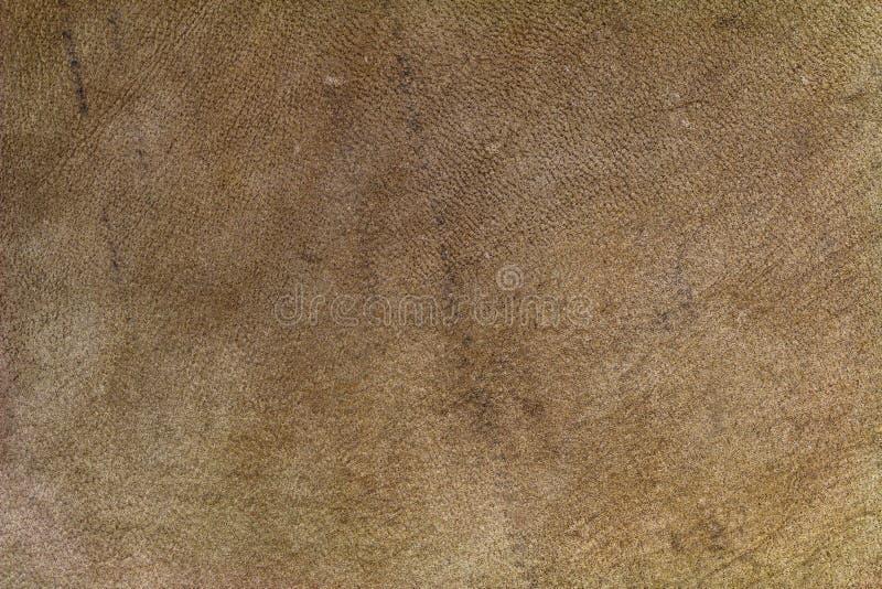 Υπόβαθρο σύστασης του καφετιού δέρματος φιαγμένο από δέρμα αιγών στοκ φωτογραφίες