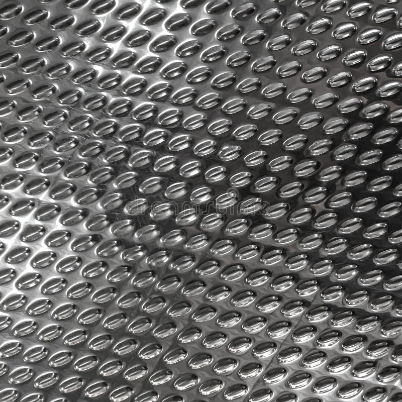 Υπόβαθρο σύστασης χάλυβα με τη μορφή ρόμβων και διαμαντιών Βουρτσισμένη επιφάνεια μετάλλων για τη βιομηχανία στοκ φωτογραφία με δικαίωμα ελεύθερης χρήσης