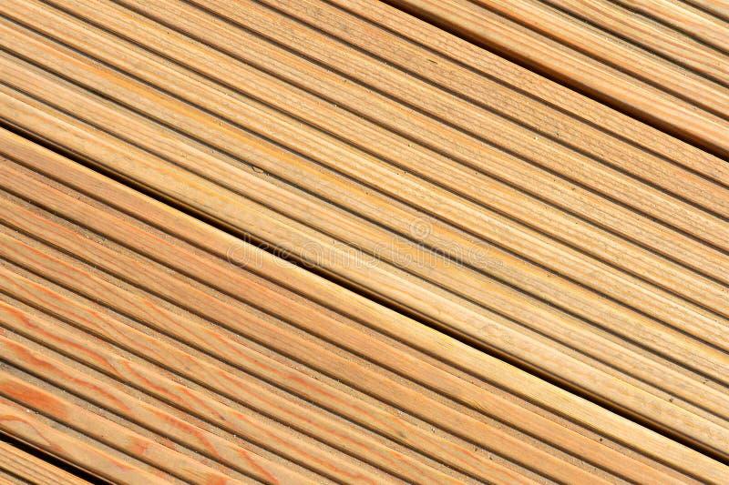 Υπόβαθρο σύστασης Decking Ξύλινο decking φυσικό υπόβαθρο σύστασης στοκ φωτογραφία