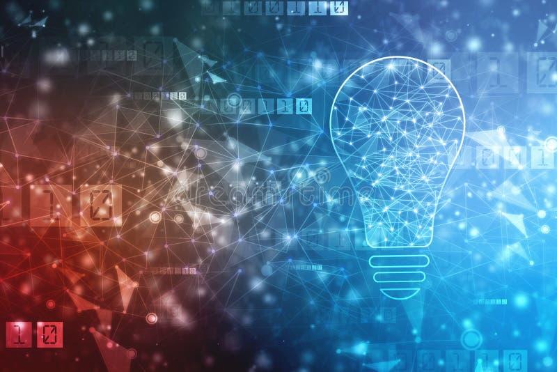 Υπόβαθρο τεχνητής νοημοσύνης, υπόβαθρο καινοτομίας διανυσματική απεικόνιση