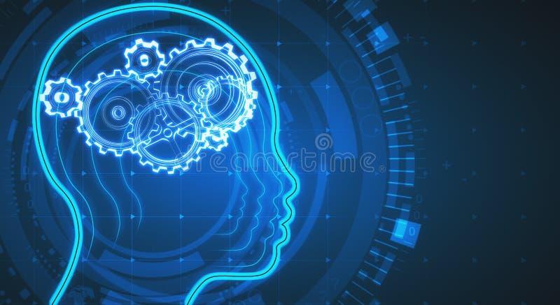 Υπόβαθρο τεχνητής νοημοσύνης στοκ εικόνες