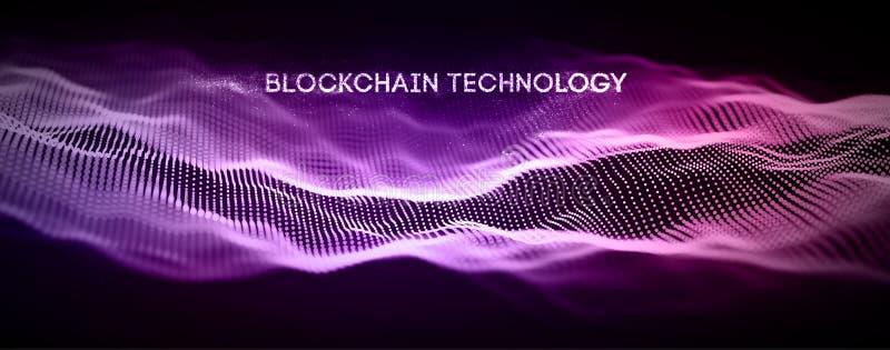 Υπόβαθρο τεχνολογίας Blockchain Δίκτυο αλυσίδων φραγμών Cryptocurrency fintech και έννοια προγραμματισμού Αφηρημένο Segwit διανυσματική απεικόνιση