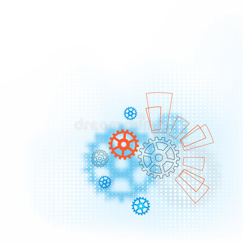 Υπόβαθρο τεχνολογίας - απεικόνιση διανυσματική απεικόνιση