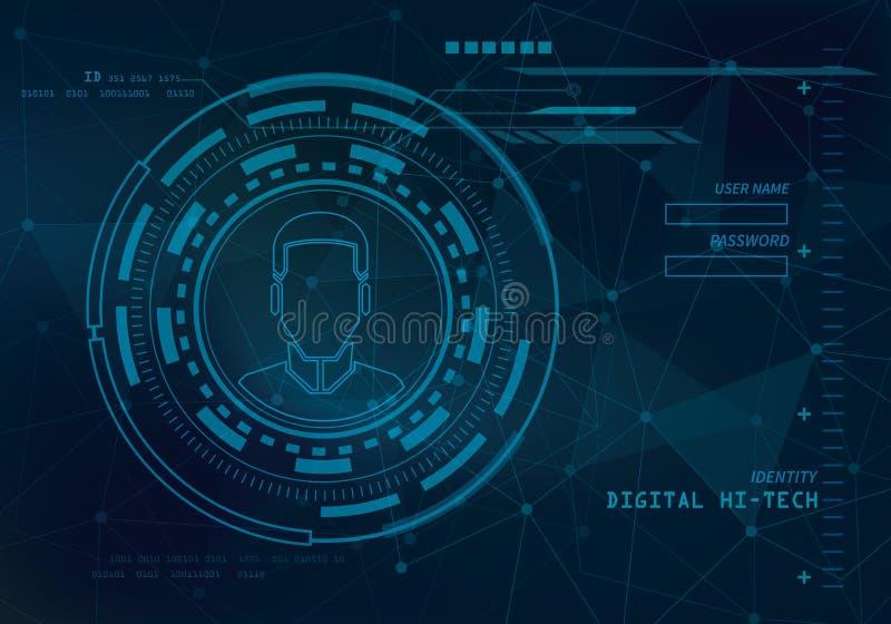 Υπόβαθρο τεχνολογίας ταυτότητας απεικόνιση αποθεμάτων