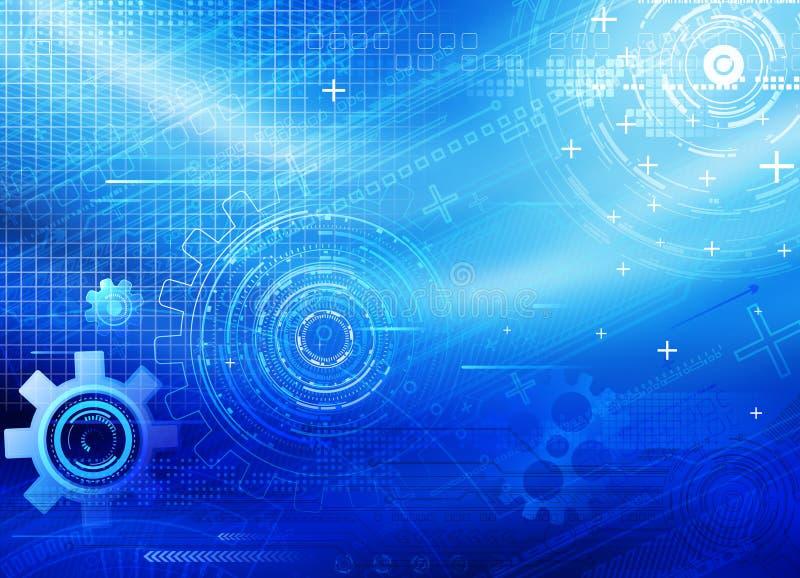 Υπόβαθρο τεχνολογίας διανυσματική απεικόνιση
