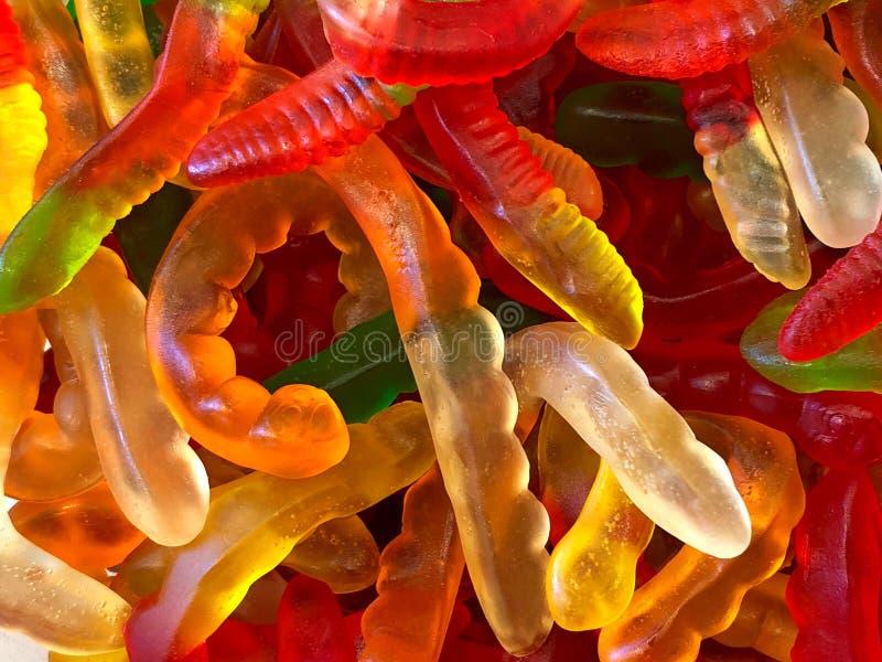 Υπόβαθρο της λαμπρής gummy καραμέλας σκουληκιών στοκ φωτογραφίες