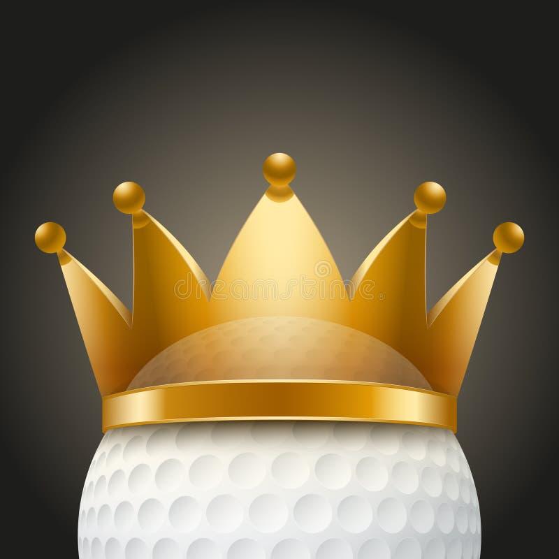 Υπόβαθρο της σφαίρας γκολφ με τη βασιλική κορώνα ελεύθερη απεικόνιση δικαιώματος