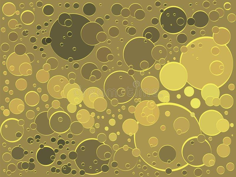 Υπόβαθρο της χρυσής σαμπάνιας ποτών φυσαλίδων λαμπιρίζοντας απεικόνιση αποθεμάτων