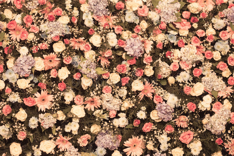 Υπόβαθρο της όμορφης γαμήλιας διακόσμησης λουλουδιών στοκ εικόνα