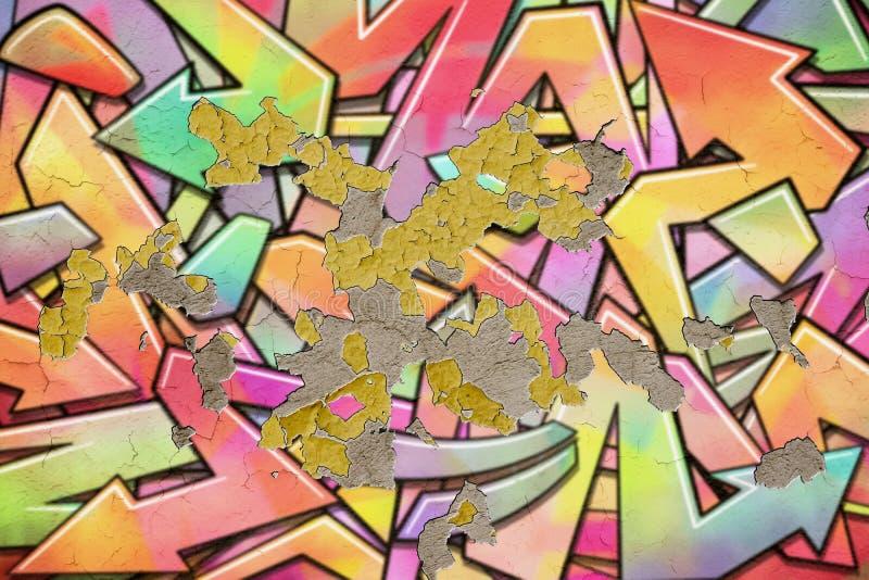Υπόβαθρο τοίχων γκράφιτι ελεύθερη απεικόνιση δικαιώματος