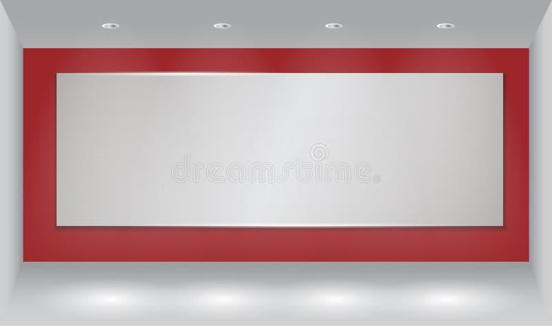 Υπόβαθρο τοίχων με το ελαφρύ σημείο στοκ φωτογραφίες