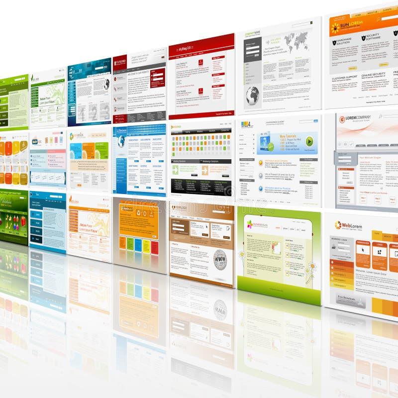 Υπόβαθρο τοίχων προτύπων ιστοχώρου ελεύθερη απεικόνιση δικαιώματος
