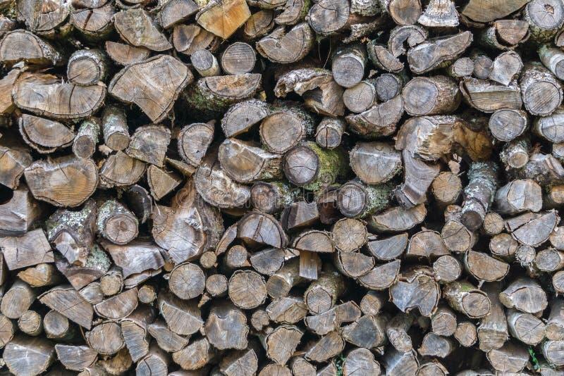 Υπόβαθρο του καυσόξυλου για τη θέρμανση Αγροτική ζωή και φυσική οικολογική έννοια υλικών στοκ φωτογραφία με δικαίωμα ελεύθερης χρήσης