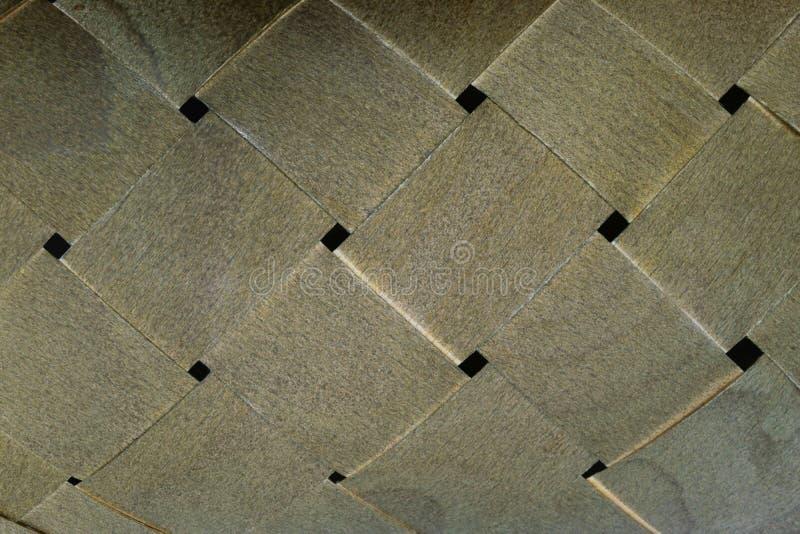 Υπόβαθρο του ψάθινου καλαθιού που γίνεται από το ξύλο στοκ εικόνες