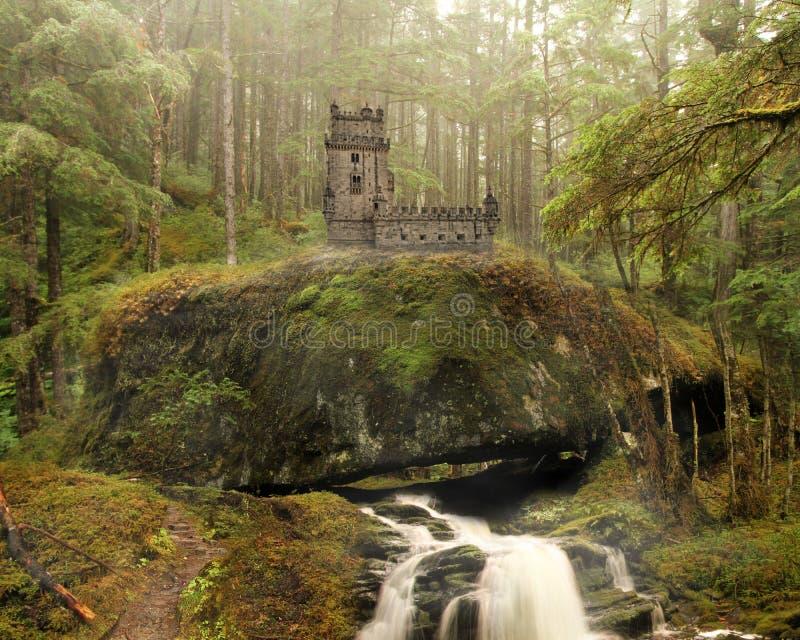 Υπόβαθρο του Castle νεράιδων στοκ εικόνες