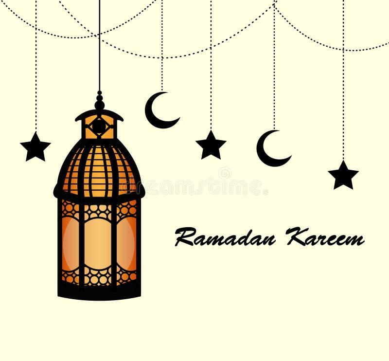 Υπόβαθρο του Kareem Ramadan με τους λαμπτήρες απεικόνιση αποθεμάτων