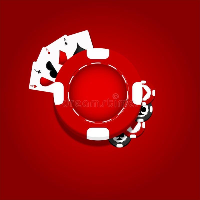 Υπόβαθρο τσιπ χαρτοπαικτικών λεσχών διανυσματική απεικόνιση