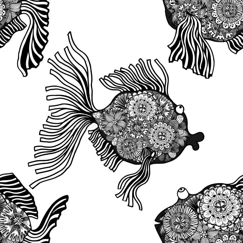Υπόβαθρο των αφηρημένων ψαριών διανυσματική απεικόνιση