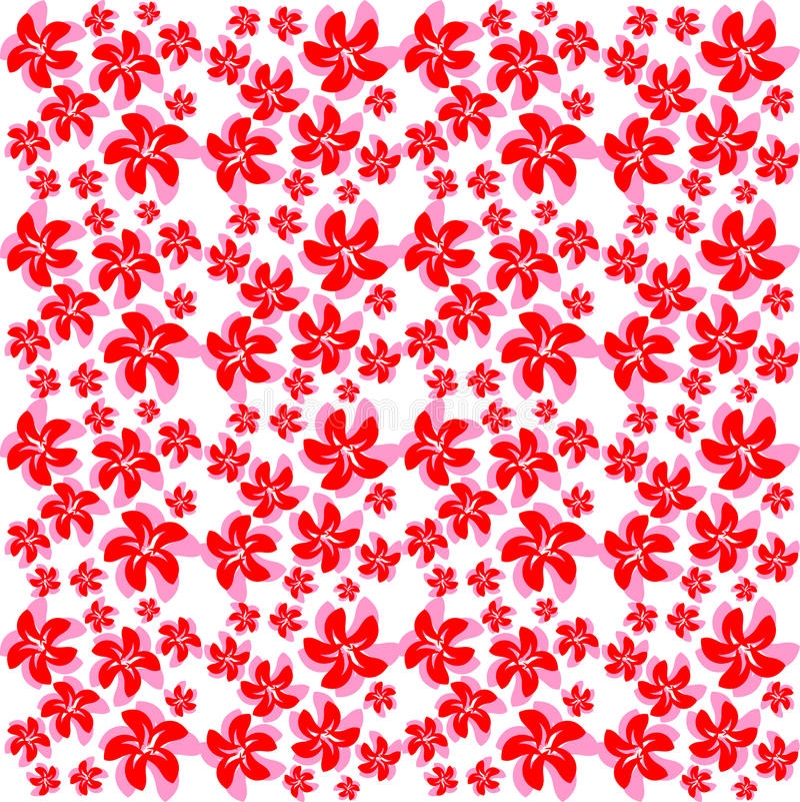 Ρόδινα κόκκινα λουλούδια σύστασης διανυσματική απεικόνιση