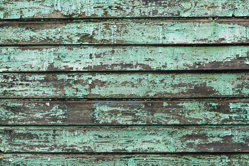 Υπόβαθρο των παλαιών ξύλινων πινάκων που χρωματίζονται με το χρώμα aquamarine στοκ εικόνα
