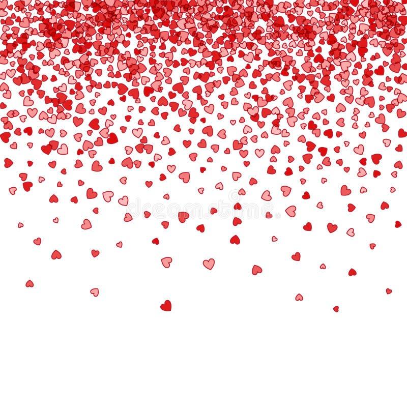 Υπόβαθρο των τυχαίων μειωμένων καρδιών απεικόνιση αποθεμάτων