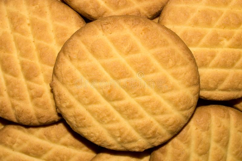 Υπόβαθρο των φωτεινών μπισκότων στοκ εικόνα με δικαίωμα ελεύθερης χρήσης