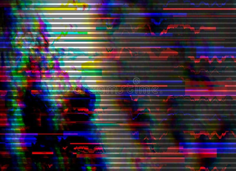 Υπόβαθρο δυσλειτουργίας Λάθος οθονών υπολογιστή Ψηφιακό αφηρημένο σχέδιο θορύβου εικονοκυττάρου Δυσλειτουργία φωτογραφιών Το τηλε ελεύθερη απεικόνιση δικαιώματος