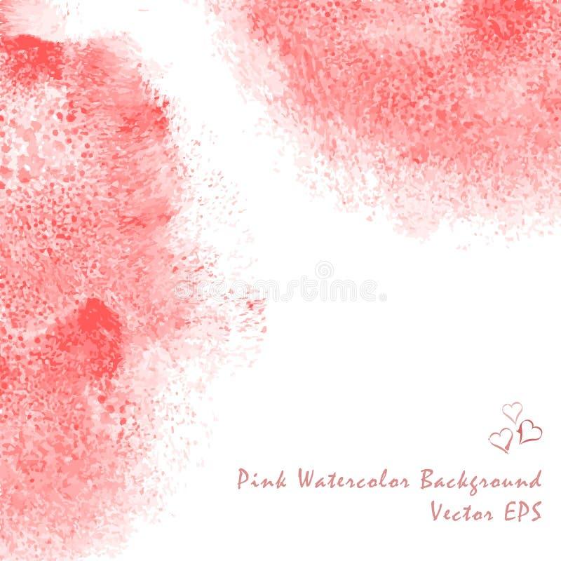 Υπόβαθρο υδατοχρώματος αφηρημένο ροζ ελεύθερη απεικόνιση δικαιώματος