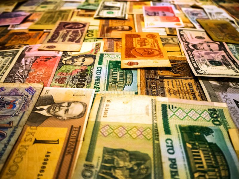 Υπόβαθρο φιαγμένο από τραπεζογραμμάτια χρημάτων στοκ εικόνες με δικαίωμα ελεύθερης χρήσης