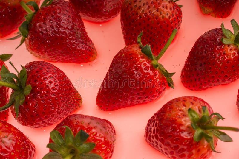 Υπόβαθρο φραουλών στοκ εικόνα