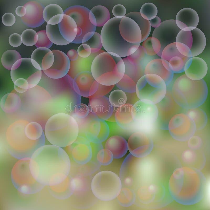 υπόβαθρο, φυσαλίδες σαπουνιών διανυσματική απεικόνιση