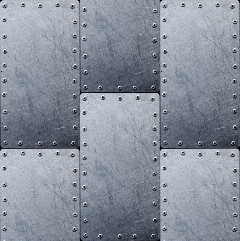 Υπόβαθρο χάλυβα σύστασης μετάλλων για το σχέδιο στοκ φωτογραφίες