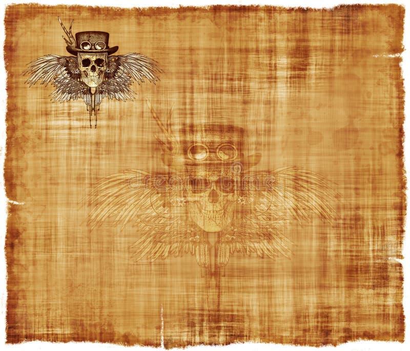 Υπόβαθρο χαρτικών περγαμηνής Steampunk ελεύθερη απεικόνιση δικαιώματος