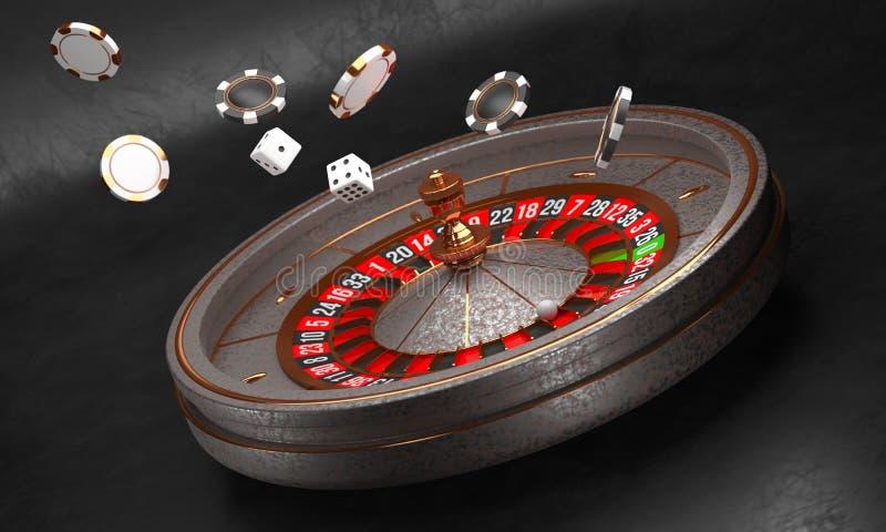 Υπόβαθρο χαρτοπαικτικών λεσχών Ρόδα ρουλετών χαρτοπαικτικών λεσχών πολυτέλειας στο μαύρο υπόβαθρο Θέμα χαρτοπαικτικών λεσχών Παλα ελεύθερη απεικόνιση δικαιώματος