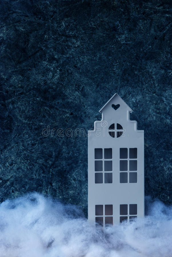 Υπόβαθρο χειμερινής νύχτας απεικόνιση αποθεμάτων