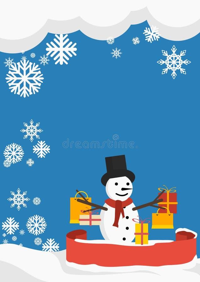 Download Υπόβαθρο χειμερινών αγορών διανυσματική απεικόνιση. εικονογραφία από χιονάνθρωπος - 62713426
