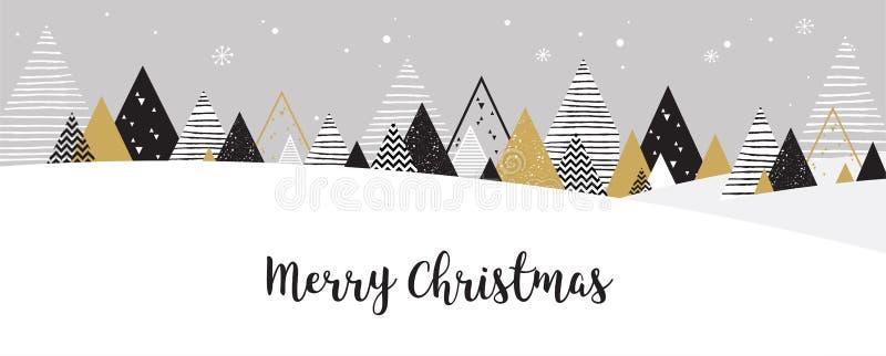 Υπόβαθρο χειμερινών τοπίων Χριστουγέννων Αφηρημένο διάνυσμα ελεύθερη απεικόνιση δικαιώματος