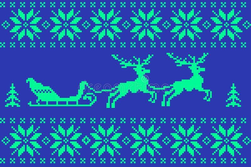 Υπόβαθρο χειμερινών Χριστουγέννων στο νορβηγικό ύφος απεικόνιση αποθεμάτων