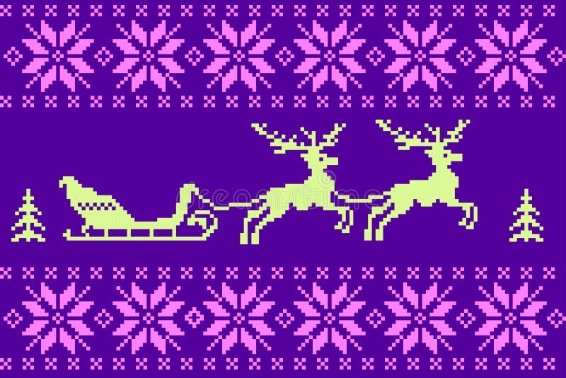 Υπόβαθρο χειμερινών Χριστουγέννων στο νορβηγικό ύφος ελεύθερη απεικόνιση δικαιώματος