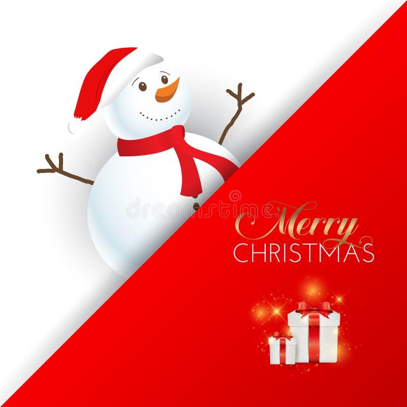 Υπόβαθρο χιονανθρώπων Χριστουγέννων ελεύθερη απεικόνιση δικαιώματος