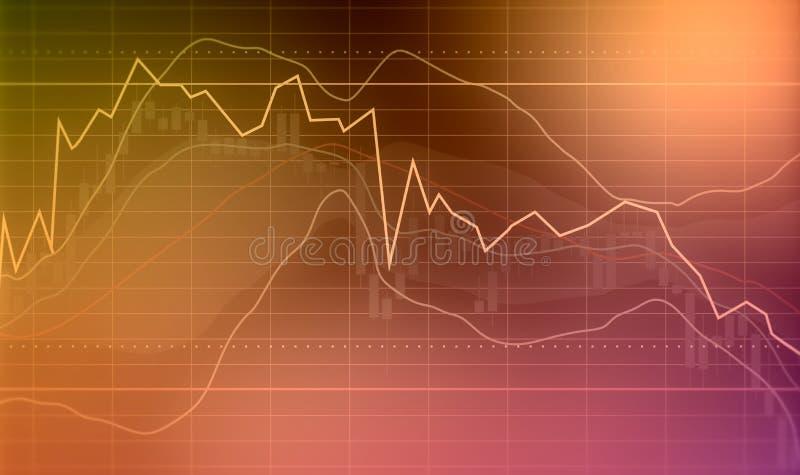 Υπόβαθρο χρηματιστηρίου κηροπηγίων διανυσματική απεικόνιση