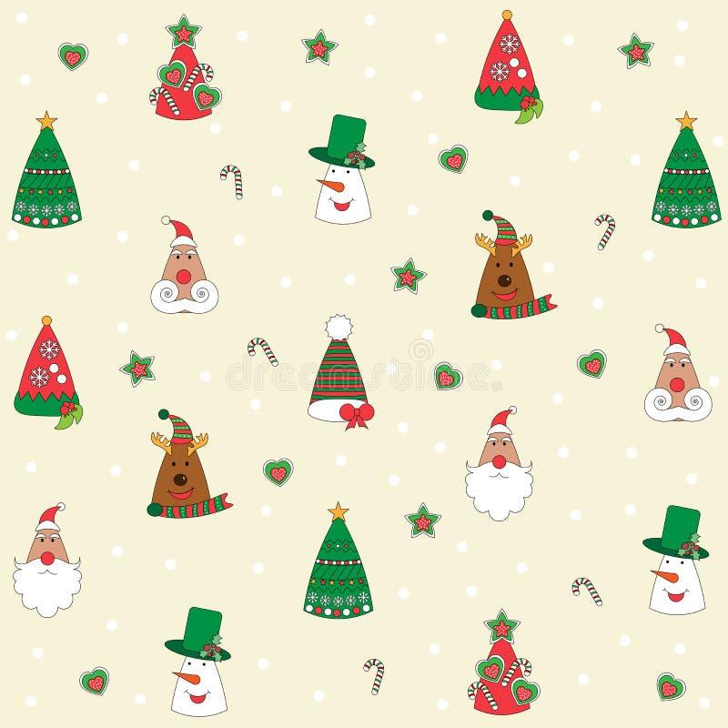 Υπόβαθρο Χριστουγέννων, άνευ ραφής επικεράμωση, μεγάλη επιλογή για το σχέδιο τυλίγοντας εγγράφου απεικόνιση αποθεμάτων