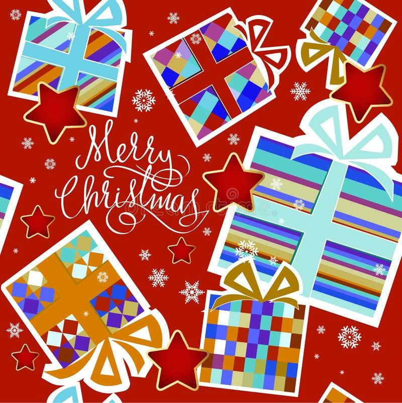 Υπόβαθρο Χριστουγέννων - απεικόνιση στοκ εικόνες